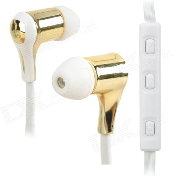 Nameblue GS-111 Bluetooth V4.0 In-Ear Music Headphone w/ Mic. - White + Light Golden nameblue st 33 sports bluetooth v4 0 in ear earphone headphone set w microphone volume control
