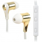 Nameblue GS-111 Bluetooth V4.0 In-Ear Music Headphone w/ Mic. - White + Light Golden