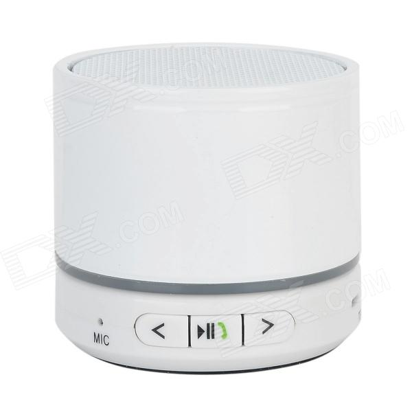 S11 Portable Bluetooth V3.0 Speaker w/ Microphone / TF / Hands-free - White
