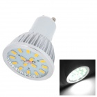GU038 GU10 4W 400lm 6000K 16-SMD 5730 LED White Light Lamp - Silver + White (AC 85~265V)