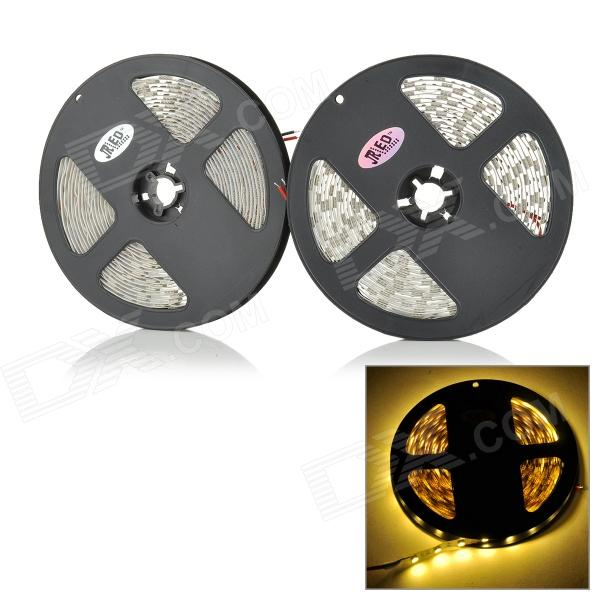 JRLED 60W 3000lm 3300K 300-SMD 5050 LED Warm White Light Strips - Negro + Blanco (DC 12V / 2 PCS)