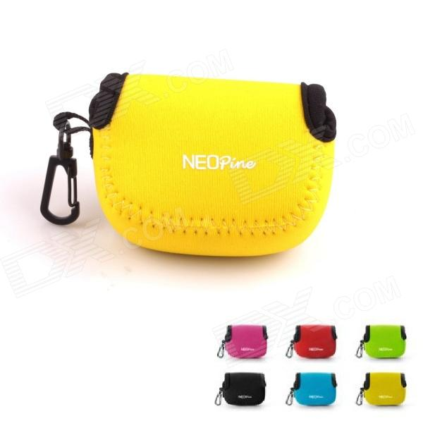 NEOpine Mini Portable Protective Neoprene Camera Bag for Gopro Hero 4/ 3+ / 3 / 2 - Yellow + Black neopine travel portable camera accessories storage bag for gopro hero 2 3 3 4 red