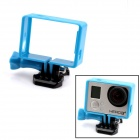 PANNOVO G-549BB Plastic Protective Side Frame w/ Screws + Push Buckle for GoPro Hero 3 / 3+ - Blue