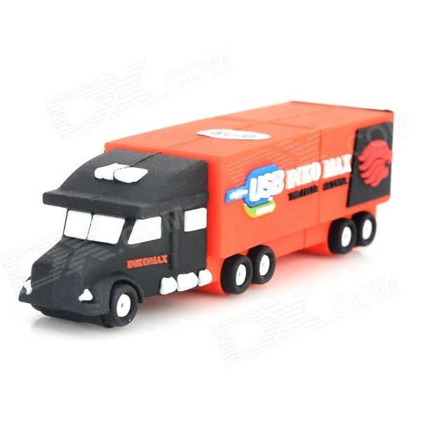Creative-Truck-Art-Silikon USB 2.0 Flash Drive - Orange + Schwarz (8GB)