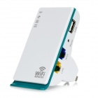 WD-R601U Wireless Networking repetidor de sinal amplificador Wi-Fi - branco + verde