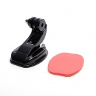 JUSTONE Smooth Surface Mount w/ J-Shape Fast Assemble Plug for SJ4000 / Gopro 3+/ 3 /2 - Black