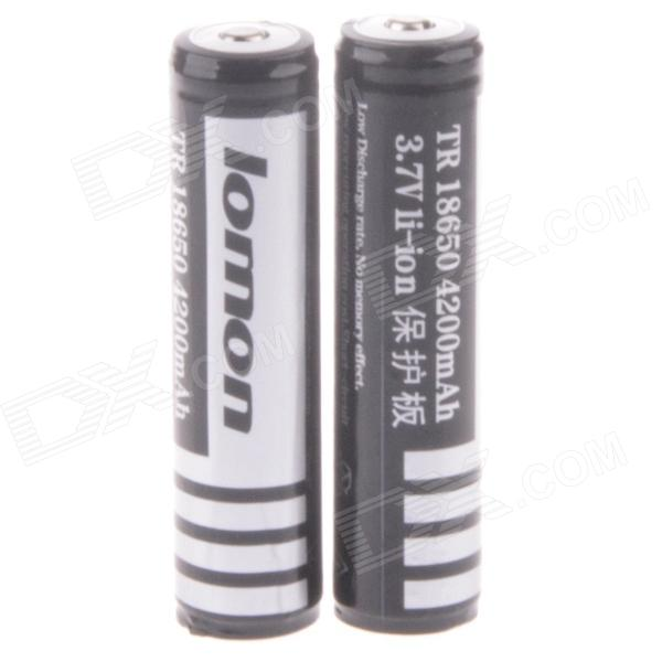 Lomon A-LV5 3.7V 1800mAh Rechargeable 18650 Li-ion Battery (2PCS) цены онлайн
