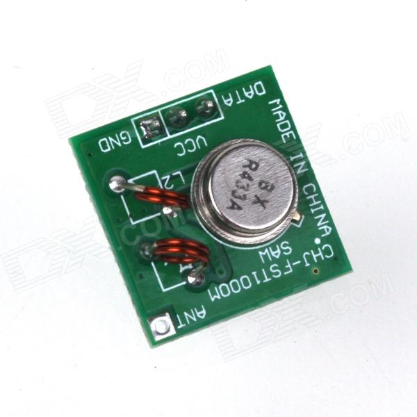 ZnDiy-BRY 433Mhz RF Transmitter Module for Arduino / ARM /MCU WL - Green qiachip 5pcs 433mhz 4 buttons remote control touch switch copying transmitter cloning duplicator key fob for garage door opener