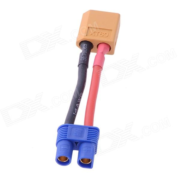 XT60 Male To Female EC3 Connector / Adapter xt60 male to 2 xt60 female connecting wire black red 5 pcs
