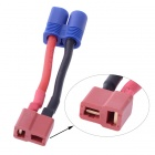 T-Plug (Deans Style) Female to Male EC3 Style Connector - Red + Blue