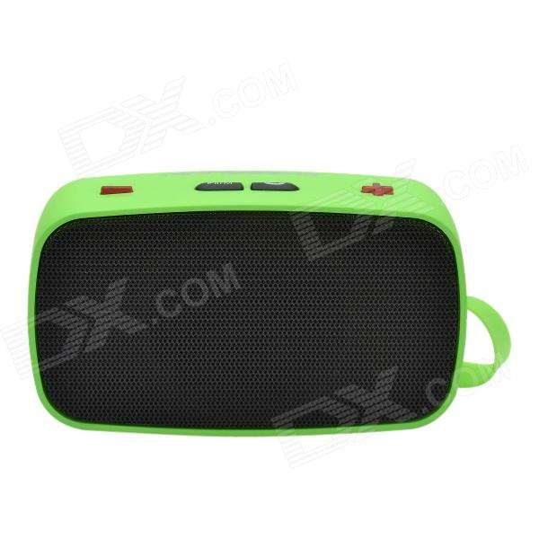 купить CHEERLINK KB-200 Mini Wireless Bluetooth V2.0 Speaker w/ Hands-free / FM / TF / USB / 3.5mm - Green недорого