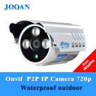 "JOOAN JA-733-KRB-T IP66 Waterproof 720P 1.0 MP 1/4"" CMOS IP Camera w/ IR-CUT / 3-IR LED - White"