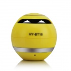 HY-BT18 Bluetooth V2.1 Mini Speaker w/ Microphone / FM / TF Slot - Yellow
