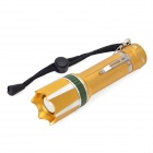MT-59T Cree XP-E Q5 180lm 3-Mode White Rotary Zooming Flashlight - Golden (3 x AAA /1 x 18650)