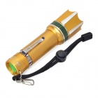 MT-59T LED 180lm 3-Mode White Rotary Zooming Flashlight - Golden (3 x AAA /1 x 18650)
