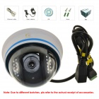 Eye Sight ES-IP911IW H.264 P2P Night Vision 720P CMOS Dome IP Camera - White + Blue