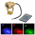 3W 120lm LED RGB Decorative / Aquarium / Outdoor /  Electric Bicycle Light Lamp - Golden (12V)