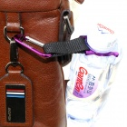 ZHISHUNJIA H-01 Outdoor Cycling / Mountaineering Beverage Bottle Buckle / Carabiner Holder - Purple