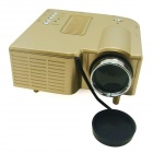 Mini LED High Definition Home Projector w/ HDMI - Golden