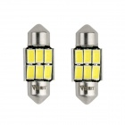 WaLangTing-Girlande 32mm 5W 6000K 140lm 6-5630 SMD Weiß LED Auto Leselampe (12 V / 2 PCS)