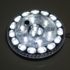 GT-693 2.4W 120lm 24-LED White Light Car Indoor Lamp Interior LED Roof Light - Silver + Black
