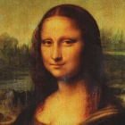 "Iarts DX0714-5 Hand-painted + Printing ""Mona Lisa Smile"" Oil Painting - Black (40 x 60cm)"