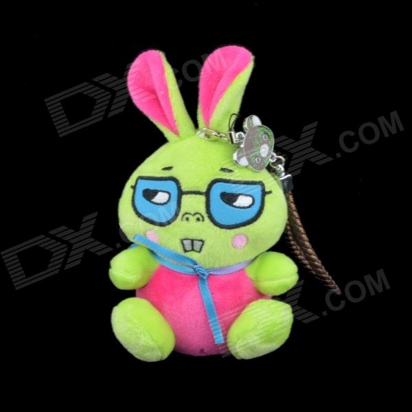 Cute Rabbit Style Portable 6000mAh Li-ion Battery Power Bank - Green + Dark Pink + Multi-Colored