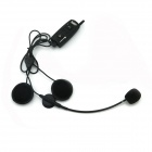 TWP-1200 Bluetooth Interphone Handset for Motorcycle / Skiing Helmet - Black (1200m)