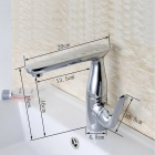 YDL-F-0560 360 Degrees Rotatable Chrome-plated Brass Bathroom Sink Faucet - Silver