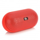 B15 Mini Wireless Bluetooth V3.0 Speaker w/ TF / Microphone / FM / AUX - Red