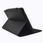 Litchee Pattern Protective PU Leather Case Cover for Pocketbook Touch 640 - Black