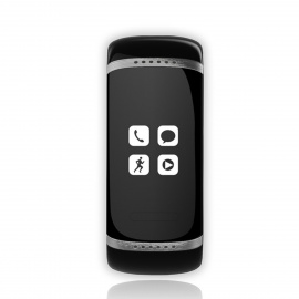 Smart Bluetooth V3.0 Bracelet Watch Music Player / Answer Call w/ Stand - Black + White