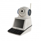 "Eye Sight ES-NVC802W 3.5"" Screen 1/4"" CMOS 0.3MP Network Video Phone Call IP Camera - Black + White"