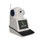 "Eye Sight ES-NVC802W 3,5 ""Screen 1/4\"" CMOS 0.3MP Nettverk Video Telefon Ring IP-kamera - Svart + Hvit"