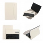 EPGATE Wireless Bluetooth V3.0 Keyboard + Protective PU Leather Case for Samsung P600 / T520 - White