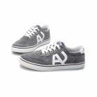 SNJ 83-JSQLA818 Men's Stylish Casual Canvas Shoes - Black + Grey (Pair / EUR Size 44)