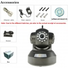 "Eye Sight ES-IP927W 1/4"" CMOS 1.0MP Wireless WPS Indoor IP Camera w/ 11-IR-LED / Wi-Fi / TF - Black"