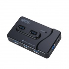 UNITEK Y-3177 High-Speed USB 3.0 7-Port USB Hub w/ Indicator for Smart Phones - Black