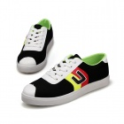 SNJ 98-518 Men's Fashionable Casual Canvas Shoes - White + Black + Multi-color (Pair / EUR Size 42)