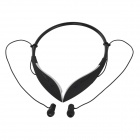 LBH1008 Bluetooth V3.0 Wireless Stereo Neckband Headphone w/ Microphone - Black + White