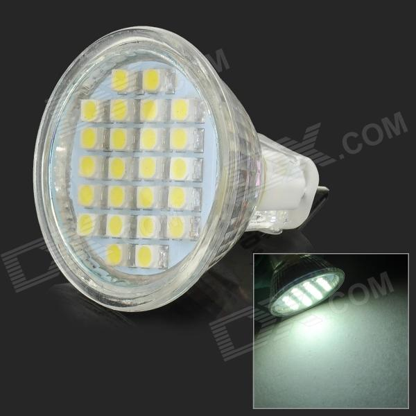 JRLED JRLED-MR11-3528-24D MR11 3W 230lm 6500K 24-SMD 3528 LED White Light Spotlight - White (DC 12V)