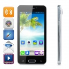 "LKD F5 Android 4.2.2 Quad-core WCDMA Bar Phone w/ 4.5"" Screen, Wi-Fi and GPS - Black + White"