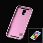 Protective Aluminum Alloy Back Case for Samsung Galaxy S5 - Pinkish Purple