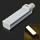 JRLED E27 12W 1000lm 3300K 60-SMD 2835 LED Warm White Horizontal Lamp - White + Silver (AC 85~265V)