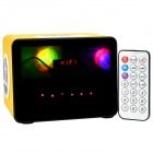 HY HY-3033 3W Touch Speaker w/ Mini USB / USB 2.0 / 3.5mm / TF / FM - Yellow + Black + White