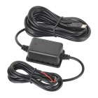 5V 1.5A Mini USB Port Power Cord w/ Low-Voltage Protection for Car DVR / GPS - Black (11~36V)