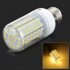 JRLED E27 12W 800lm 3300K 126-SMD 2835 LED Warm White Corn Lamp - White + Transparent (AC 220~240V)