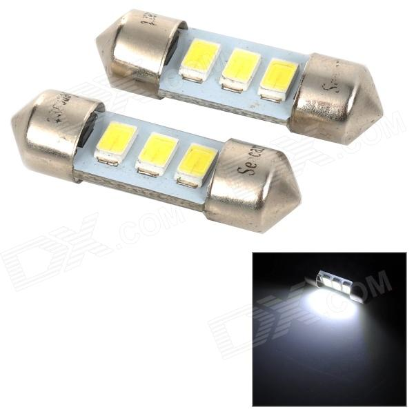 SENCART SV8.5-8 1W 40lm 9500K 5730 SMD LED Cool White Light Car Roof / Reading Lamp (2PCS/DC12~16V) sencart sv8 5 8 1w 40lm 9500k 5730 smd led cool white light car roof reading lamp 2pcs dc12 16v