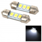 SENCART SV8.5-8 1W 40lm 9500K 5730 SMD LED Cool White Light Car Roof / Reading Lamp (2PCS/DC12~16V)
