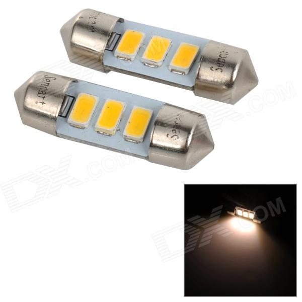 SENCART SV8.5-8 1W 40lm 3500K 5730 SMD LED Warm White Light Car Roof / Reading Lamp (2PCS/DC12~16V) sencart sv8 5 8 1w 40lm 9500k 5730 smd led cool white light car roof reading lamp 2pcs dc12 16v